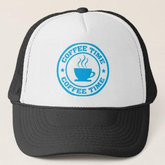 淡いブルーのA251コーヒー時間円 キャップ