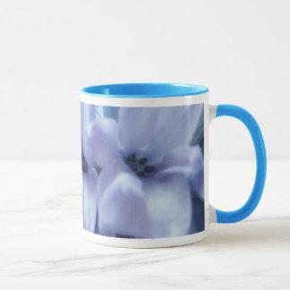 淡いブルーのHyacinth マグカップ