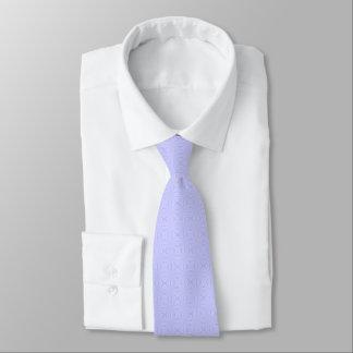 淡いブルーのSquiggly正方形 ネクタイ