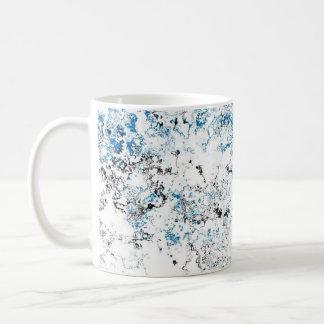 淡いブルーのWaterwashデザイナーマグ コーヒーマグカップ