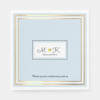淡いブルーエレガントな結婚式のお祝いの披露宴 スタンダードランチョンナプキン