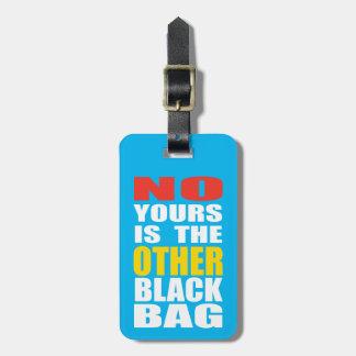 淡いブルー他の黒いバッグの荷物のラベル ラゲッジタグ
