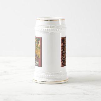淡い色のなかたつむりのエールStien ビールジョッキ