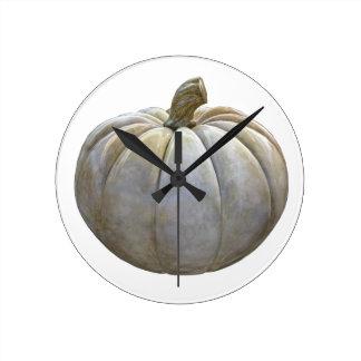 淡い色のなカボチャ ラウンド壁時計