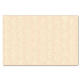 淡い色のなモモおよびクリーム色のダマスク織 薄葉紙