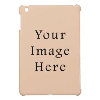 淡い色のなリネンベージュ色の傾向のブランクのテンプレート iPad MINIケース