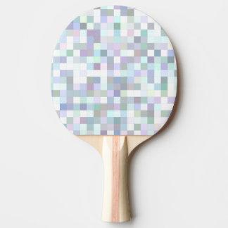 淡い色のな正方形のモザイク 卓球ラケット
