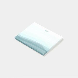 淡い色のな水の水彩画は粘着性がある後it®ノートを振ります ポストイット