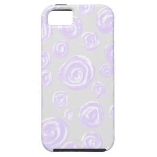 淡い色のな灰色の薄紫のばら色パターン iPhone SE/5/5s ケース