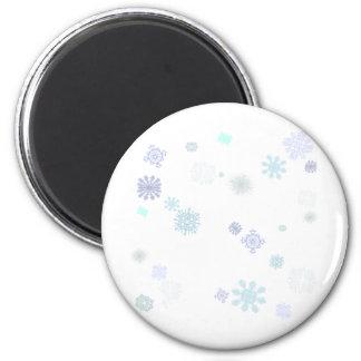 淡い色のな雪片 マグネット