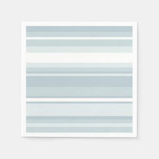 淡青色のストライブ柄 スタンダードカクテルナプキン