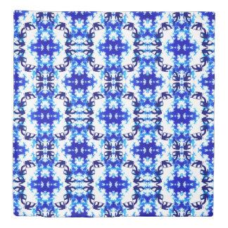 淡青色のスノーボーダーの空のタイルのスノーボードのスポーツ 掛け布団カバー