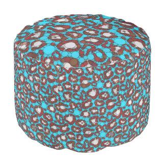 淡青色のバーガンディのチータの抽象芸術 プーフ