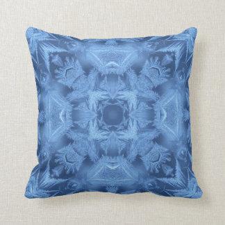 淡青色の抽象芸術 クッション