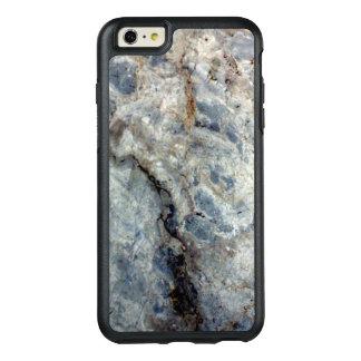 淡青色の白い大理石の石造りの終わり オッターボックスiPhone 6/6S PLUSケース