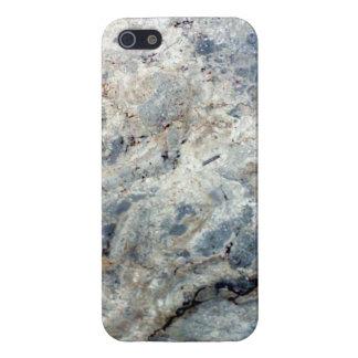 淡青色の白い大理石の石造りの終わり iPhone 5 CASE