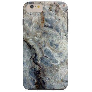 淡青色の白い大理石の石造りの終わり TOUGH iPhone 6 PLUS ケース