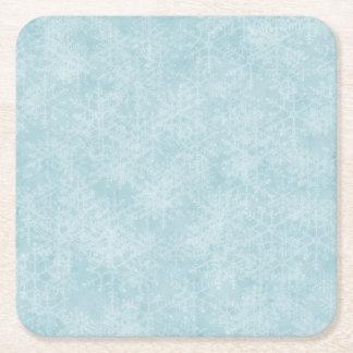 淡青色の雪片 スクエアペーパーコースター