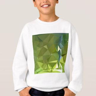 淡黄緑の緑の抽象芸術の低い多角形の背景 スウェットシャツ