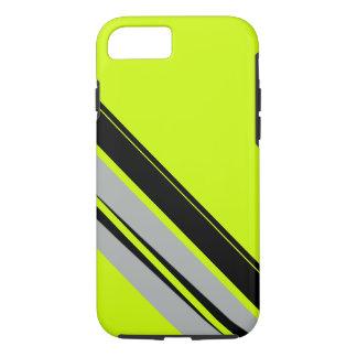 淡黄緑の黄色いライムの黒スポーティなCricketDiane iPhone 8/7ケース