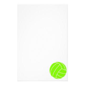 淡黄緑、ネオン緑のバレーボール 便箋