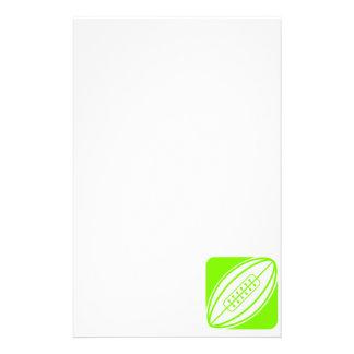 淡黄緑、ネオン緑のラグビー 便箋