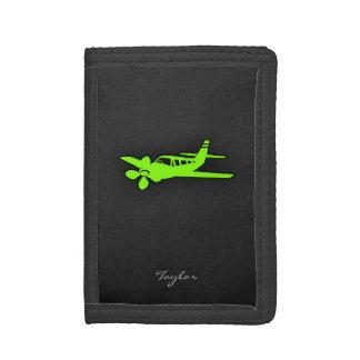淡黄緑、ネオン緑の飛行機