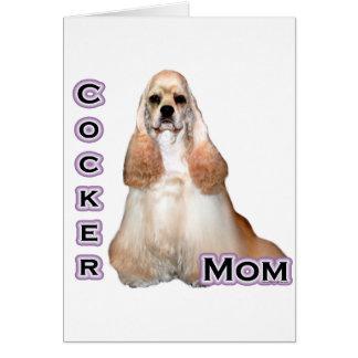 淡黄色のコッカースパニエルのお母さん4 カード