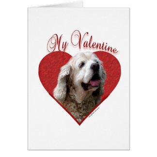 淡黄色のコッカースパニエル私のバレンタイン カード