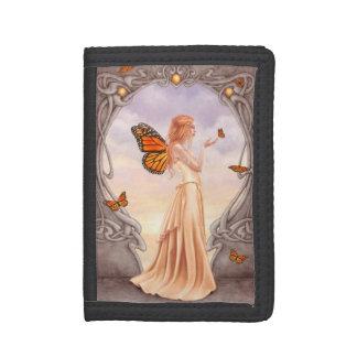 淡黄色のBirthstoneの妖精の三つ折り財布