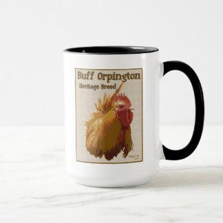 淡黄色のOrpingtonのオンドリのマグ マグカップ