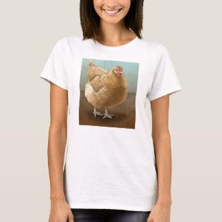 淡黄色のOrpingtonの雌鶏の女性のワイシャツ Tシャツ
