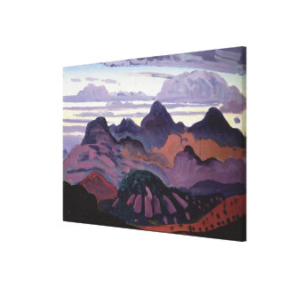 深いたそがれ、ピレネー山脈、c.1912-13 (パネルの油) キャンバスプリント