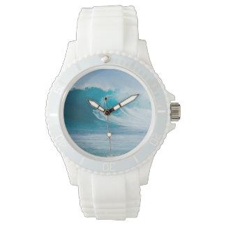 """""""深いターコイズの海洋波""""の腕時計 腕時計"""