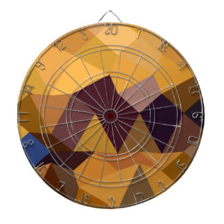 深いレモン色の抽象的で低い多角形の背景 ダーツボード