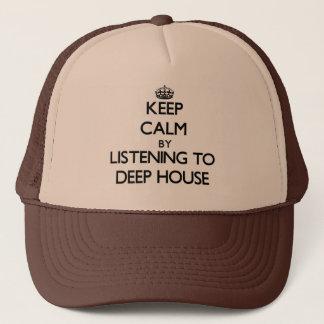 深い家に聞くことによって平静を保って下さい キャップ