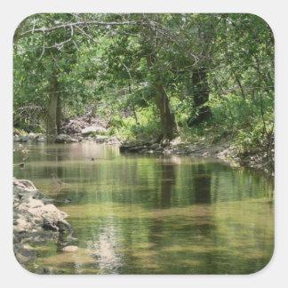 深い森の入り江 スクエアシール