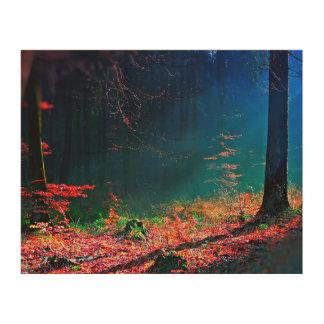 深い森林眺め木芸術 ウッドウォールアート