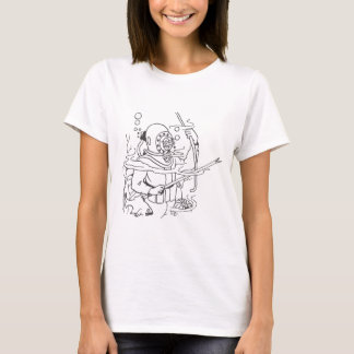 深い深海のダイバー Tシャツ