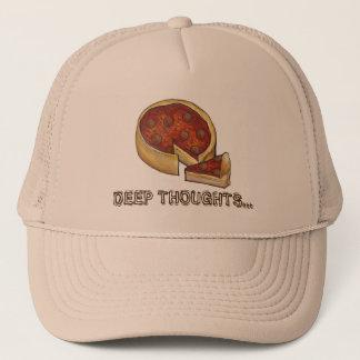 深い皿の思考のシカゴのPepperoniピザ帽子 キャップ