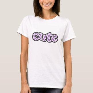 深い薄紫シェブロン Tシャツ