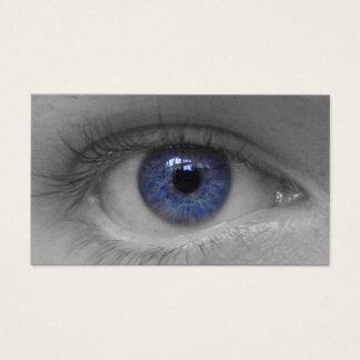 深い青い目のbuissnesカード 名刺