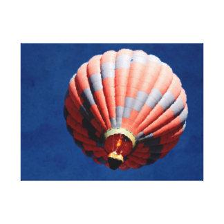 深い青空の熱気の気球 キャンバスプリント