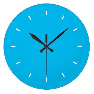 深い青緑色の上1色 ラージ壁時計