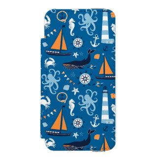 深い青航海のなすべての事 INCIPIO WATSON™ iPhone 5 財布 ケース