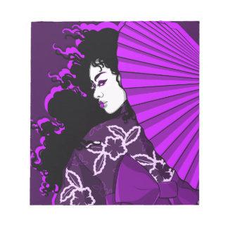 (深い)紫色の芸者 ノートパッド
