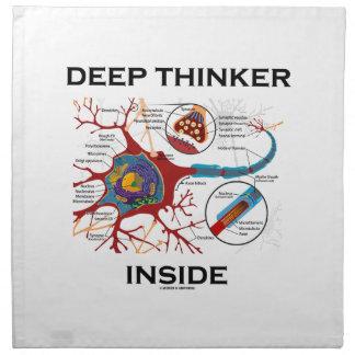 深くものを考える人の内部(ニューロンシナプス) ナプキンクロス