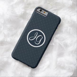 深くクラシックな濃紺の豪華でカスタムなモノグラム BARELY THERE iPhone 6 ケース
