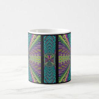 深く健全なかぎ針編みの一見 コーヒーマグカップ