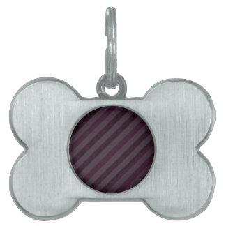 深く紫色の暗闇は-カスタムなパターンを縞で飾ります ペットIDタグ